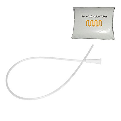 CE-0434 Approved | Enema Supplies - Colon Tube Tips - Set of 10 (Sizes 12FR) |Non Toxic, Pyrogen Free, Sterile, Latex Free by MasterMedi