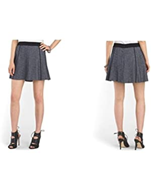 Theory Bao S Skirt, Install Stretch Fabric, Navy Blue