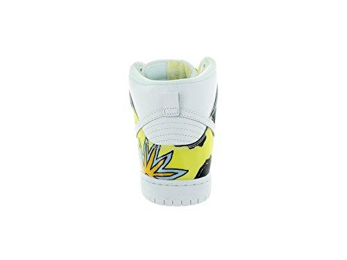 """Männer Nike Dunk High PRM DLS SB QS """"De La Soul"""" Skateboardschuhe - 748751 177 Weiß / Leuchtkäfer"""