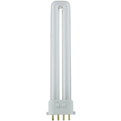 Sunlite PL13/E/SP41K 13-Watt Compact Fluorescent Plug-In 4-Pin Light Bulb, 4100K (Tube Pl 10000 Hour Compact)