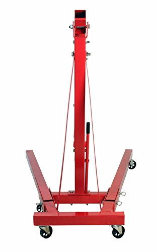 Dragway Tools 2 Ton Folding Hydraulic Engine Hoist Cherry