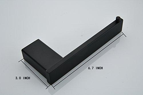 Klabb B58 4-Piece ss304 Bathroom Hardware Accessory Set with 24'' Towel Bar -Matte Black by Klabb (Image #2)