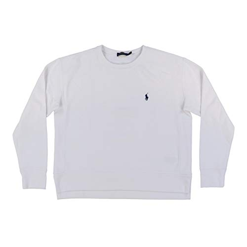 Polo Ralph Lauren Womens Crew Neck Sweatshirt (X-Small, White)