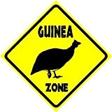 GUINEA ZONE fowl farm bird zoo hobby sign