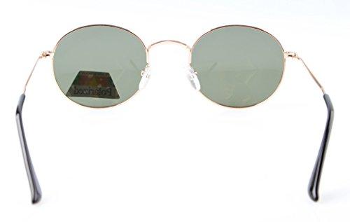 Eyekepper Gafas G15 Montura lente Redondas Polarizadas de de Dorada Sol 4OqZ4r