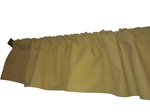 Solid Yellow Valance Curtain . Window treatment. Window Decor. Kitchen, classroom, Kids, wide 56