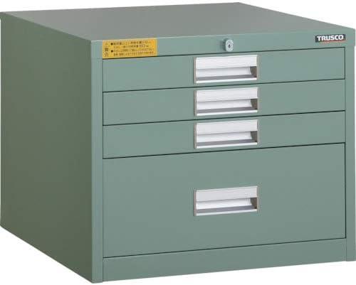 TRUSCO LVE型キャビネット 500X550XH420 引出4段 LVE421