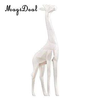 Creative Giraffe Figurine Standing Sculpture Resin Home Table Decor Black