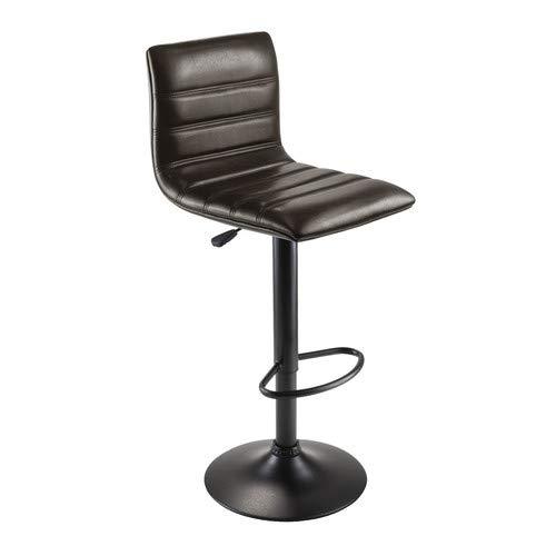 - OKSLO Holly air lift, espresso swivel seat & black base stool