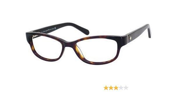 d2bfca0363d Amazon.com  Kate Spade Alease Eyeglasses-0X79 Black Tortoise-49mm  Clothing