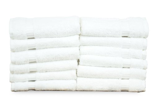 Chakir Turkish Linens Turkish Cotton Luxury Hotel & Spa Bath Towel, Wash Cloth - Set of 12, - Bathroom Wash