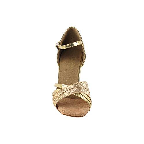 Meget Fint Dansesko 6030 (konkurrence Klasse) 2.5 Hæl Guld Stardust Y8zCP