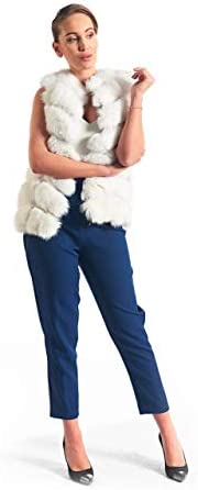 skandinavikfur White Fox Fur Vest