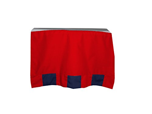 (Baby Doll Patchwork Perfection Crib Skirt/Dust Ruffle, Navy/Red)