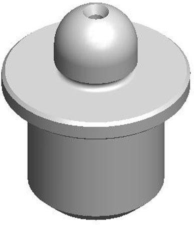 .7498 Dia. (A), 1.0018 Dia. (B), Round, Bullet Nose Pin (1 Each)