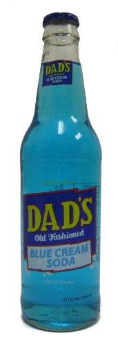 Dad's Blue Cream Soda with Real Cane Sugar, 12 Ounce (12 Glass (Cream 12 Oz Glass)
