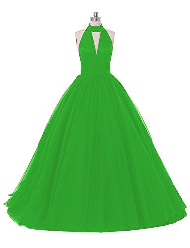 trapecio Sin Vestido mangas para Verde mujer Stillluxury PgUq1w