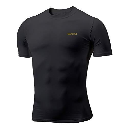 쿨원단 언더레이어 EXIO(《에쿠시오》) Compression 웨어 맨즈 반소매 둥근 목 모양 스포츠 셔츠 t셔츠 하냉느낌