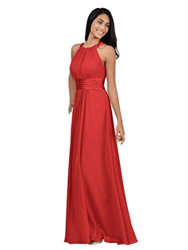 Red royal evening dress elegant evening gown - 2