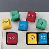 ComputerGear Funny Computer Keyboard Novelty Key Caps Set (8)