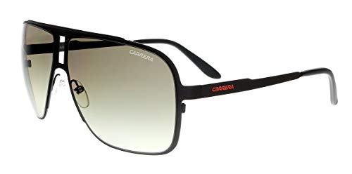 (Carrera Men's Ca121s Rectangular Sunglasses, Charcoal/Brown Gradient, 62 mm)