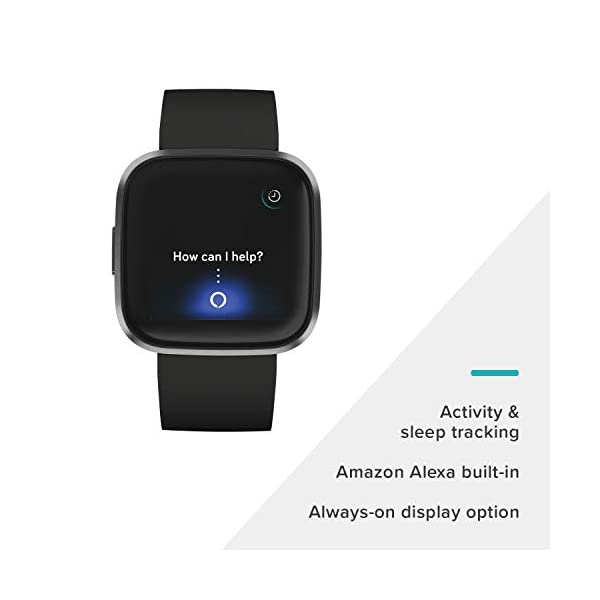Fitbit Versa 2 Health and Fitness Smartwatch with Heart Rate, Music, Alexa Built-In, Sleep and Swim Tracking