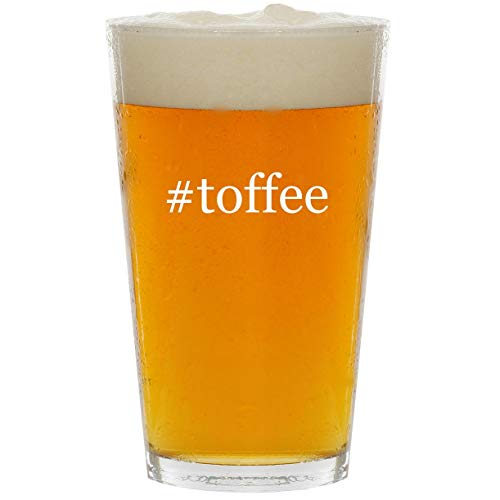 #toffee - Glass Hashtag 16oz Beer Pint