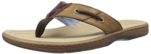Sperry Top-Sider Men's Baitfish Thong Sandal,Brown/Buck Brown,10 M US (Sperry Brown Sandals)
