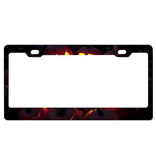 ASUIframeNJK Ritual Pumpkins in The Forest Happy Halloween Party License Plate 6 x 12 License Plate Frame Decor Metal License Plate.