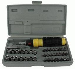 Deluxe Socket Wrench Set (41-Piece Deluxe Screwdriver Bit & Socket Set)