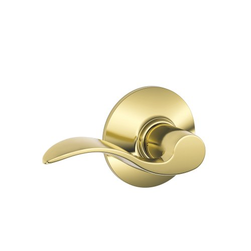 Accent Keyed Lever (Schlage F10VACC605 Accent Passage Lever, Bright Brass)