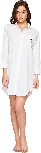 - LAUREN RALPH LAUREN Women's Cotton Jacquard Sleepshirt White X-Large