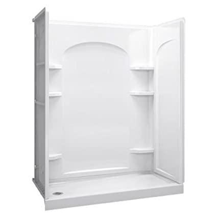 STERLING 72171110-0 60-Inch Shower Base Vikrell Left Drain, White ...