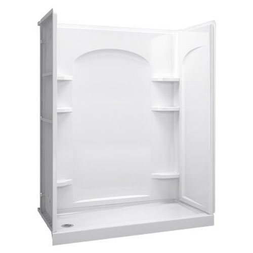 Left Drain 30 (STERLING 72171110-0 60-Inch Shower Base Vikrell Left Drain, White)