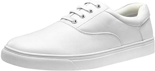 VOSTEY Men's Fashion Sneakers White Casual Dress Sneaker Skateboarding Shoes for Men