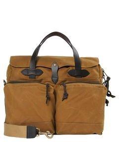 Filson Men's 24 Hour Briefcase, Dark Tan, One Size