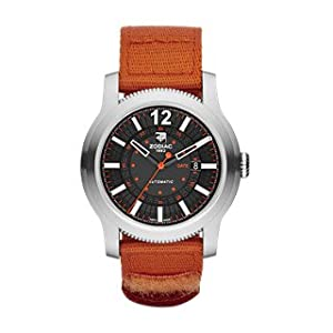 Zodiac ZMX Men's ZO9102 Jet-O-Matic Stainless Steel Watch with Orange Band
