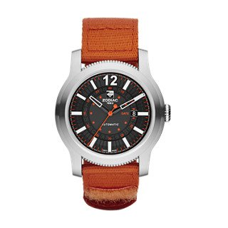 Zodiac-ZMX-Mens-ZO9102-Jet-O-Matic-Stainless-Steel-Watch-with-Orange-Band