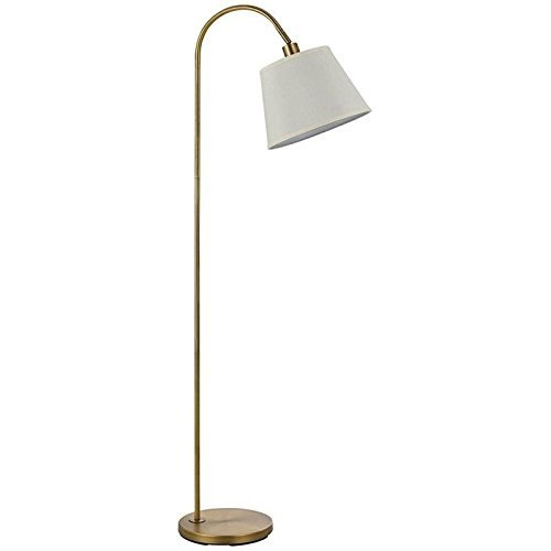 Cal Lighting Metal Floor Lamp in Antique Brass by Cal
