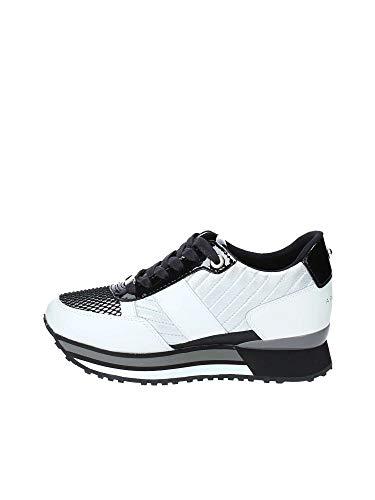 Sneaker D19ap05 tessuto Apepazza Donna silver Bianco Running In Pelle Mod Raya SZdwZ6