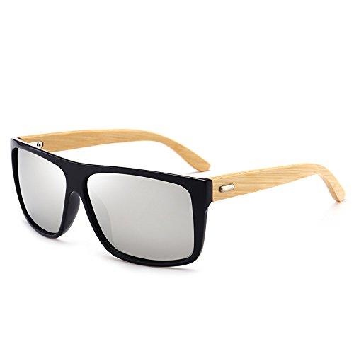 Gafas Gafas De Sol Plateado Piernas Calidad Bambú Alta De Sol De Nuevo Gafas GOFIVE Moda fqCpPU