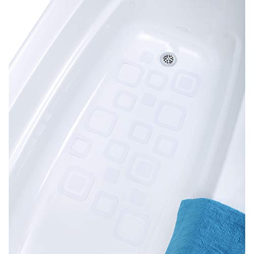 SlipX Solutions Adhesive Square Safety Treads Add Non-Slip Traction to Tubs, Showers & Other Slippery Spots - Design Your Own Pattern! (21 Count, Reliable Grip, Clear) ()