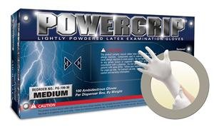 Microflex PowerGrip Latex Glove, Powdered, 9.6'' Length, 5.9 mils Thick, Medium (Pack of 1000) by Microflex
