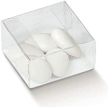 LE GEMME DI VENEZIA - Caja de PVC Transparente, 6 x 6 x 3 cm, para peladillas, 90 Unidades: Amazon.es: Hogar