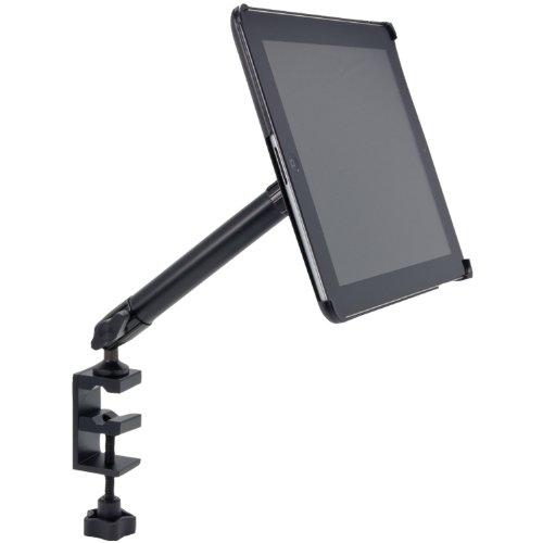 Arkon Custom Fit Apple iPad 4 3 2 Heavy Duty 10 inch C Clamp Tripod Table Desk or Cart Mount by ARKON