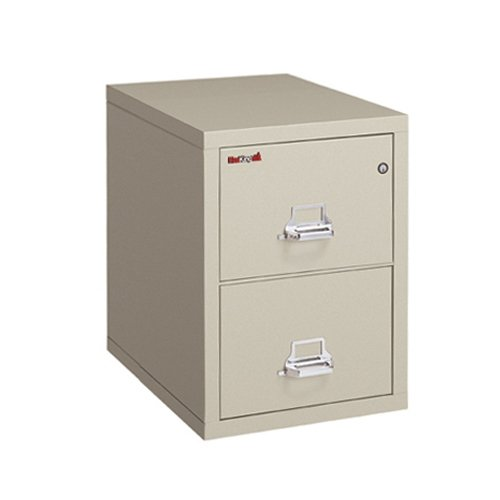 Fireking 2-2125-CPA Fireproof Vertical File Cabinet, 21 W x 25 D, Parchment