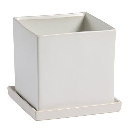 Amazon.com: stjk $ bmjw blanco negro cuadrado de cerámica ...