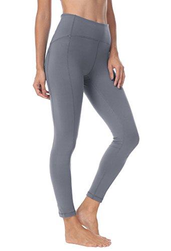 Queenie Ke Women Yoga Leggings Nine Pants Power Flex Mid-Waist Gym Running Tights Size M Color Dark Grey