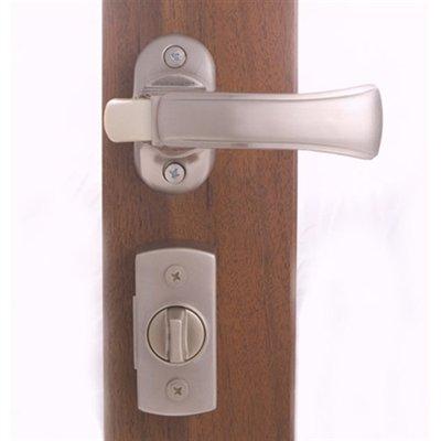 Storm Door Surface Mount Lockset for 1-1/2'' Thick Doors Satin Nickel 90205-099