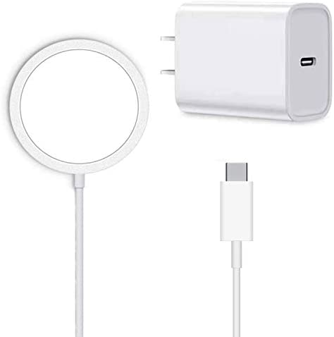 Magnetic Wireless Charger for iPhone 12/12 Mini/12 Pro/ 12 Pro max and Apple AirPods 2 /professional (with USB-C 20W Adapter) Fast Charging Pad for Samsung/LG/Google Phones